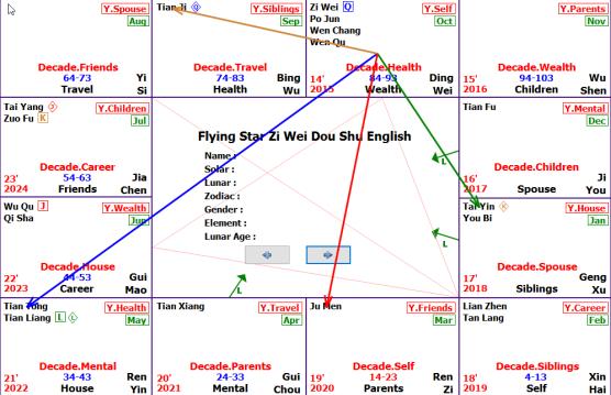 Zi Wei Dou Shu Chart analysis
